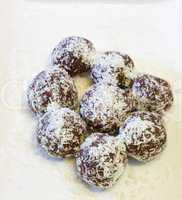 Chocolate balls  .
