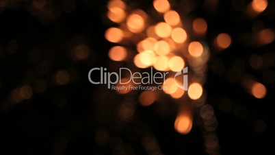 Firework out of focus - bokeh background