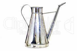 Antique arab teapot on a white background .