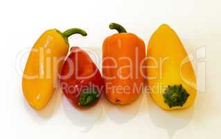 Mini peppers .