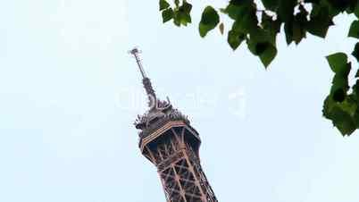 Eiffel tower tracking shot