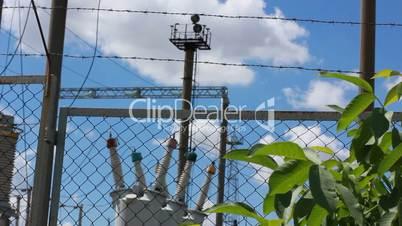 large high-voltage transmission lines in power station