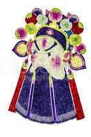 Chinese tradition opera mask, isolated on white background