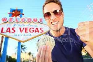 Las Vegas man winning money