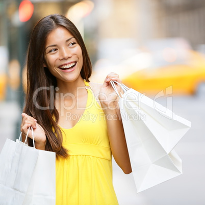 Shopping woman in New York City