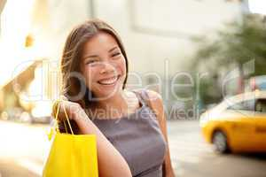 Shopping business woman in New York City