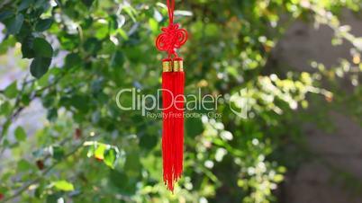 Asian knot talisman decoration