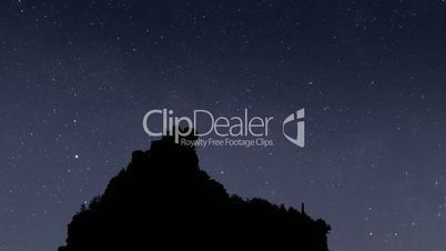 milky way stars mountain silhouette time lapse close 11467