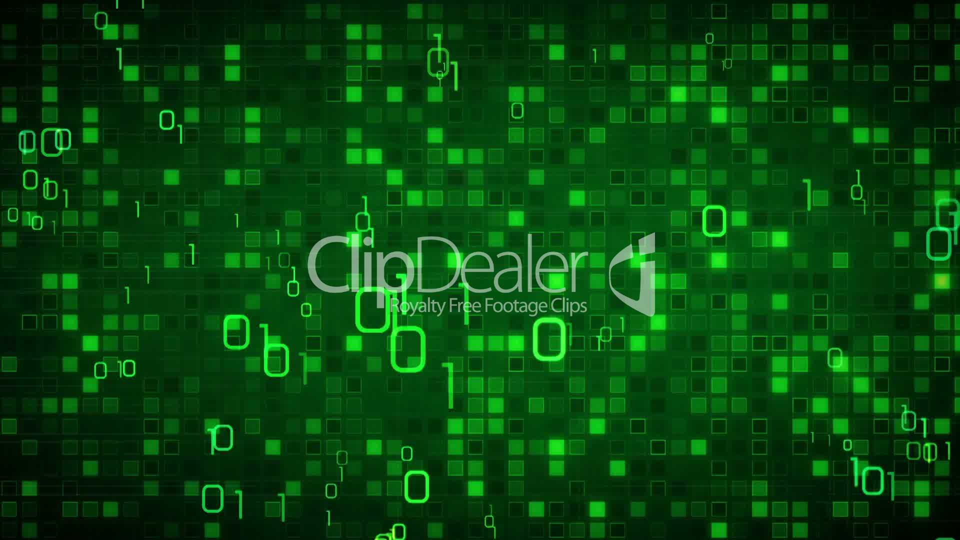Green Information Technology Loopable Background Videos Et Clips