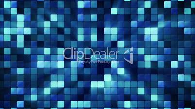 blue shiny mosaic tiles loopable background