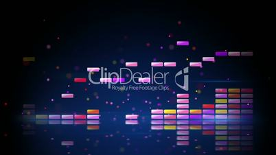 digital colorful equalizer with reflection loop