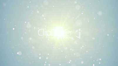 bright light and flying particles loop background