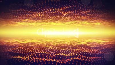 fantasy flight through waving fields of particles loop