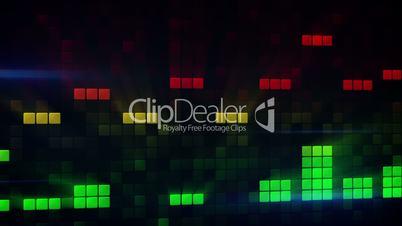 digital audio meter equalizer loopable background
