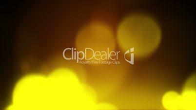 blurred yellow circles flashing rush loopable background