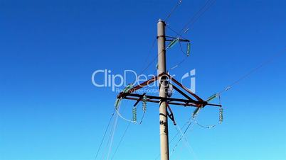 Cable wires from a power post