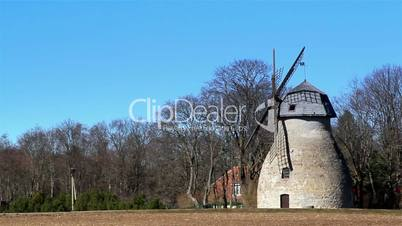 An ancient type of windmill