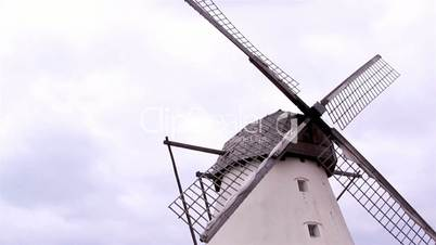 The old grain mill and the wind mill