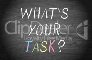 What is your task ?