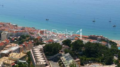 Panoramic View of Resort Town