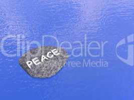 Peace stone - 3D render