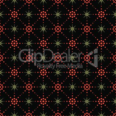 Seamless pattern of symbolic stars