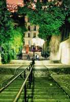 Montmartre stairs at night - Paris