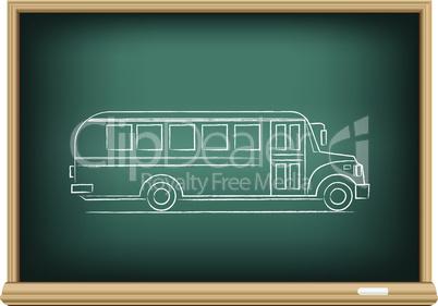 board school bus side view