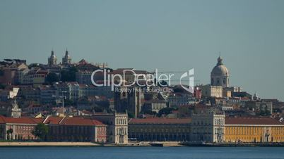 Panoramic View on the Lisbon and River, Portugal
