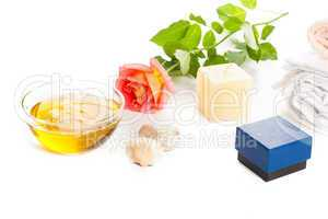 aromatherapy oil and rose