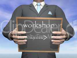 Businessman workshop - 3D render