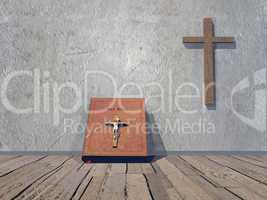 Religious room - 3D render