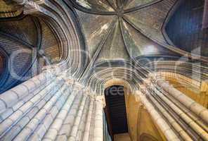 Notre Dame interior columns, Paris