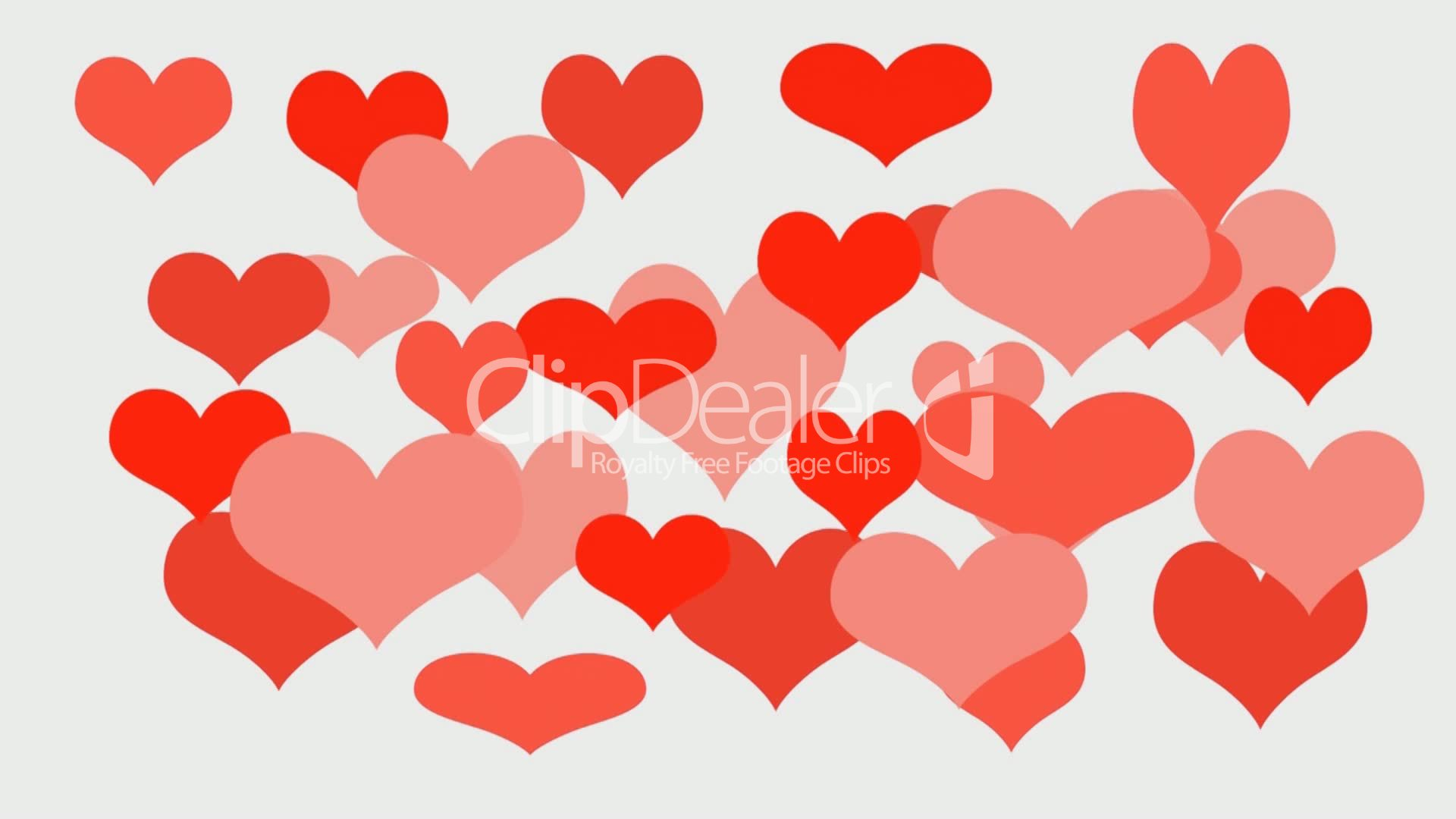 love hearts - valentine's day background: royalty-free video and