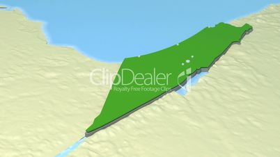 Israel Map // Middle East Conflict 3D Visualisation