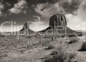 The famous Buttes of Monument Valley at Sunset, Utah