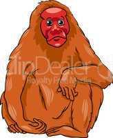 uakari animal cartoon illustration