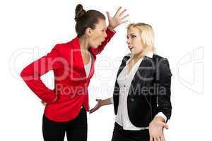 Boss woman yelling at a subordinate