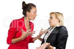 Chief woman yelling at a subordinate