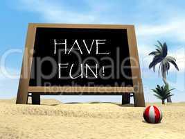 Have fun - 3D render