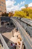 New York City. The High Line Park on a wonderful sunny day
