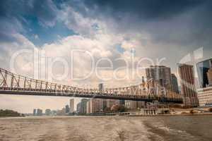Bridge and skyline of Manhattan