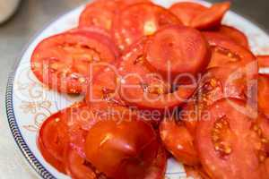 Dish of Fresh Tomatoes