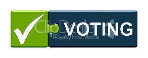 Puzzle-Button grün blau: Voting