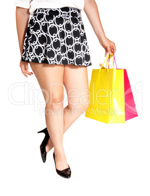 Legs with shopping bag's.