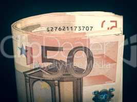 Retro look Euro note