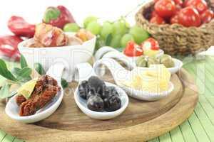 gefüllte Tapas mit Obst
