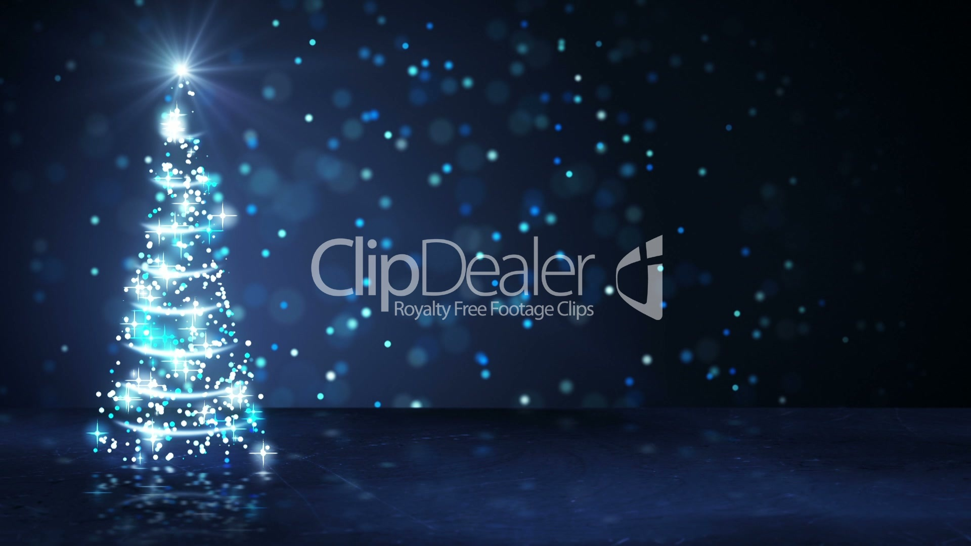 Blue christmas tree of glowing particles loop royalty free video greeting kristyandbryce Choice Image