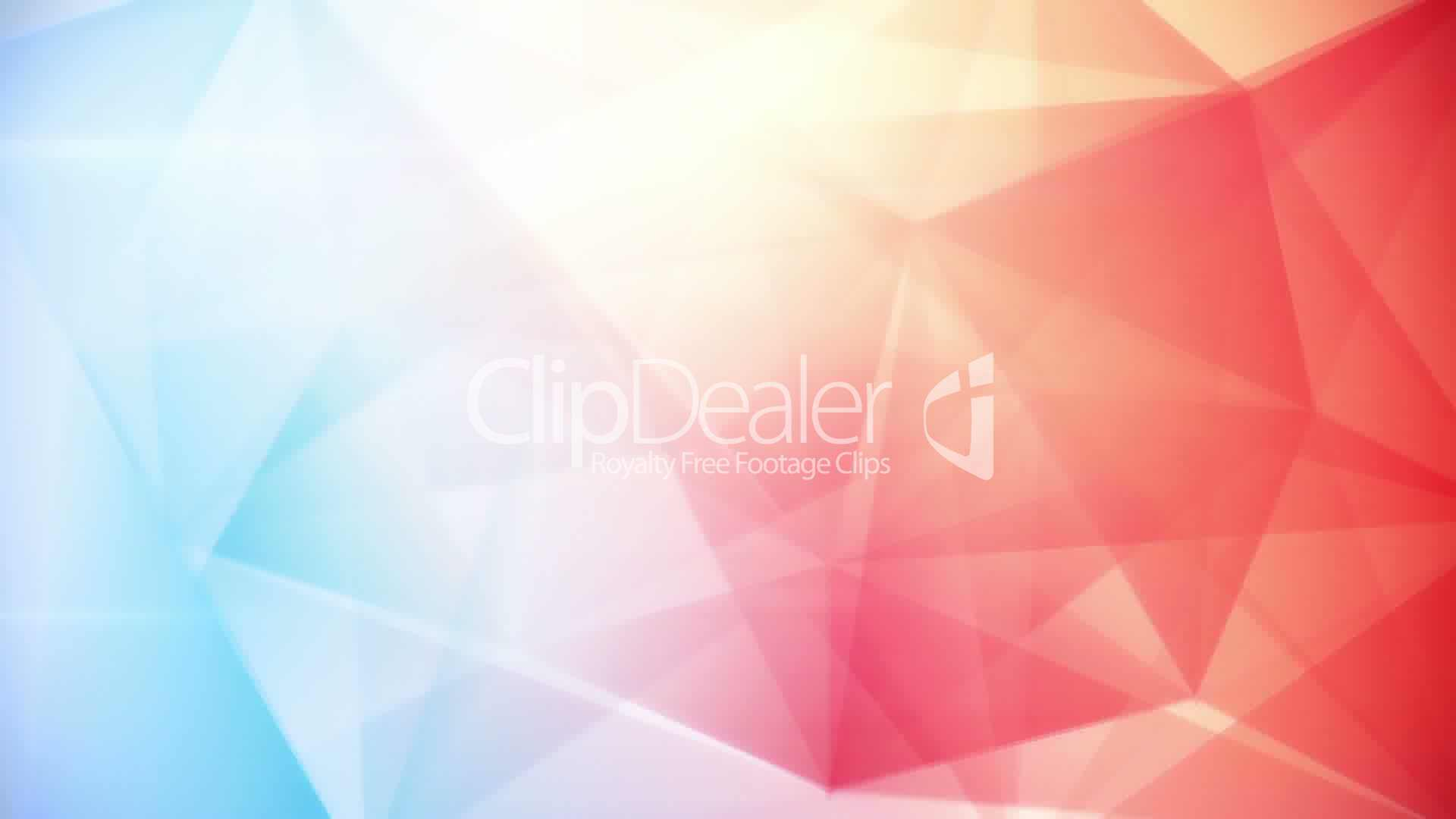 Abstract Triangle Geometrical Blue Red Background Loop