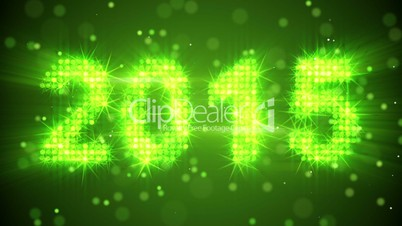 New year 2015 greeting glowing green particles loop royalty free video footage clip new year 2015 greeting glowing green particles m4hsunfo